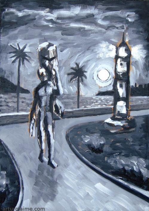 Leuchtturm Gemälde