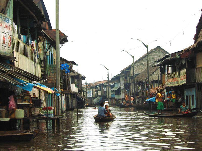 Barrio Belen in der Regenzeit, einer der Orte, an denen wir gearbeitet haben
