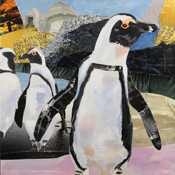 Afrikanische Pinguine Gemälde