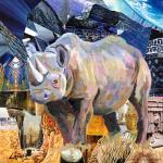 Schwarzes Nashorn Gemälde