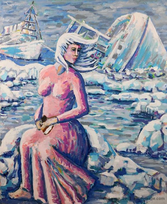 Die Frau des Winters Gemälde