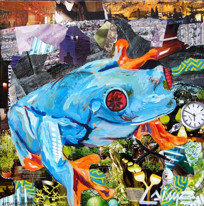 Frosch Gemälde