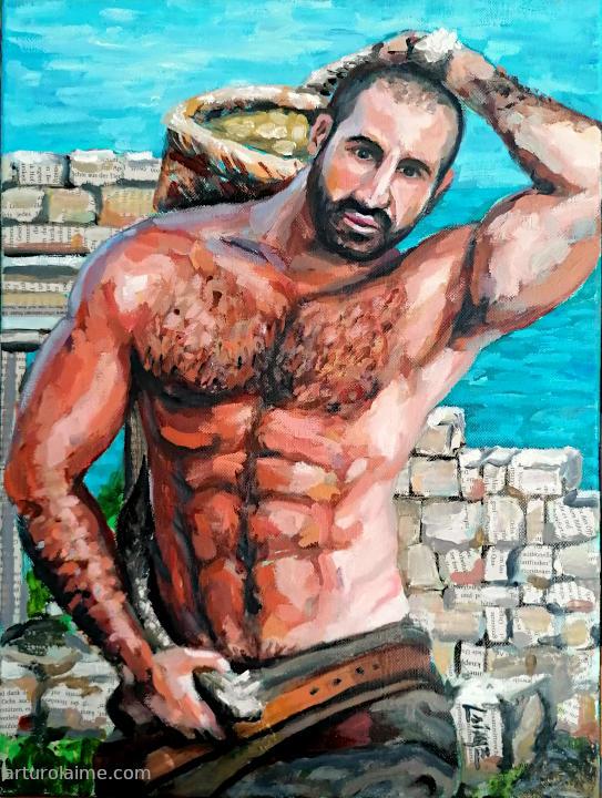 Griechischer Träger Gemaelde