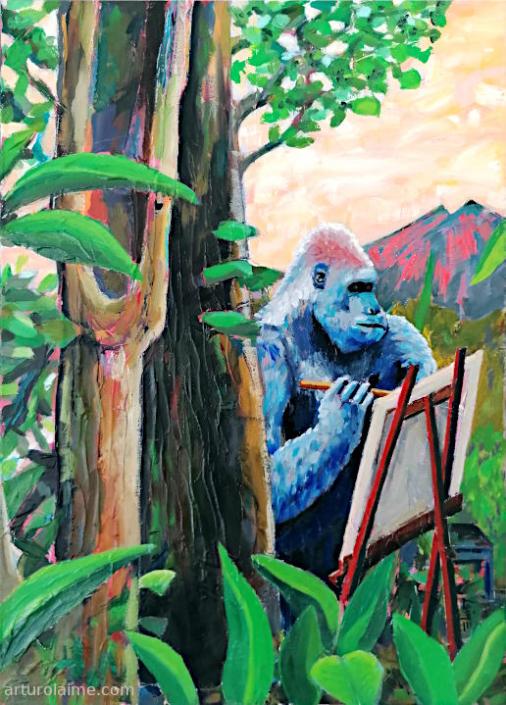 Maler Gorilla