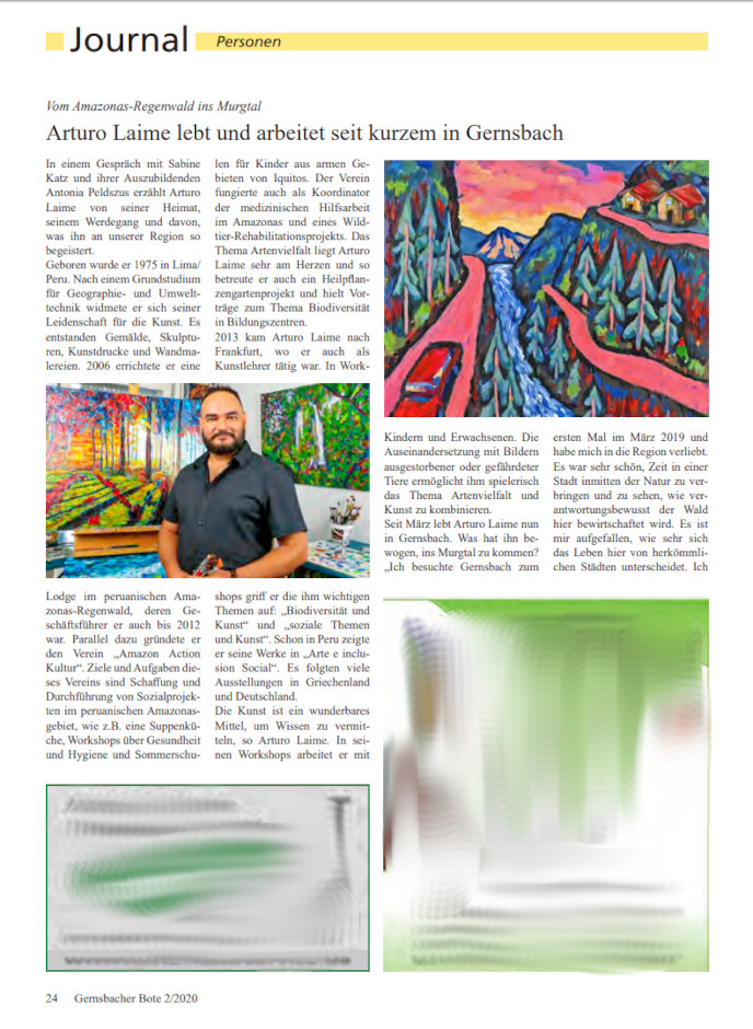 Arturo Laime im Gernsbacher Bote 10072020 Blatt 24