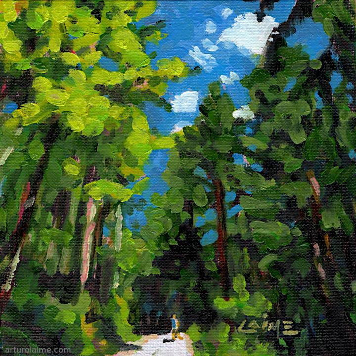Wanderer im Wald von Arturo Laime