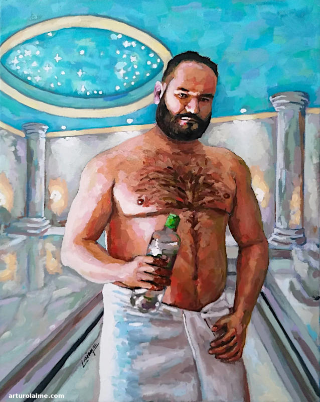 Self Portrait in Hammam by Arturo Laime