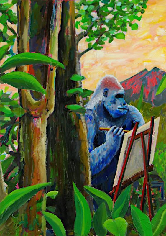 Painter gorilla 800px
